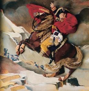 """Napoleón cruzando los Alpes"". JacquesLouis David. La Malmaison. París."